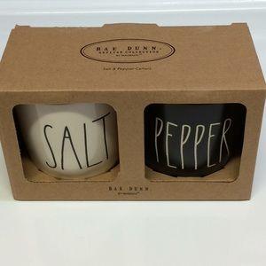 NWT Rae Dunn SALT and PEPPER Cellars